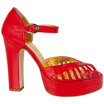 Terry De Havilland Charlie Platform Sandals, Red