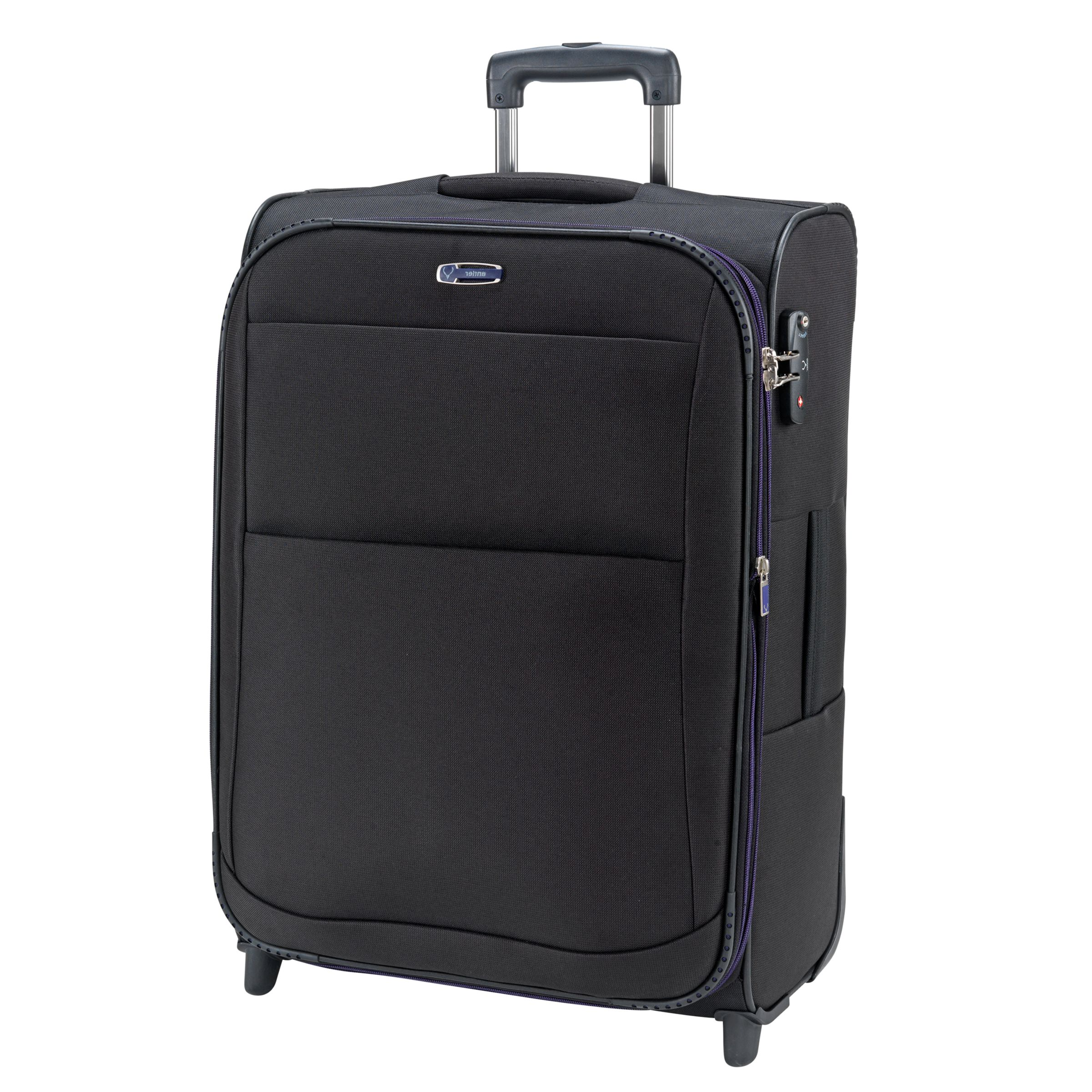 Antler Tourlite II 2-Wheel Suitcase, Black/Plum