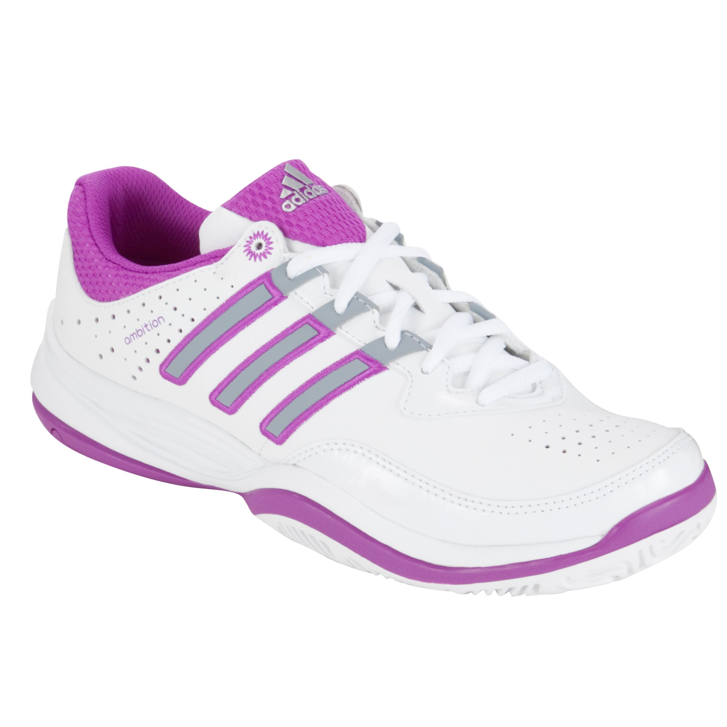 Adidas Ambition Women's Court Shoes, Running White/Black