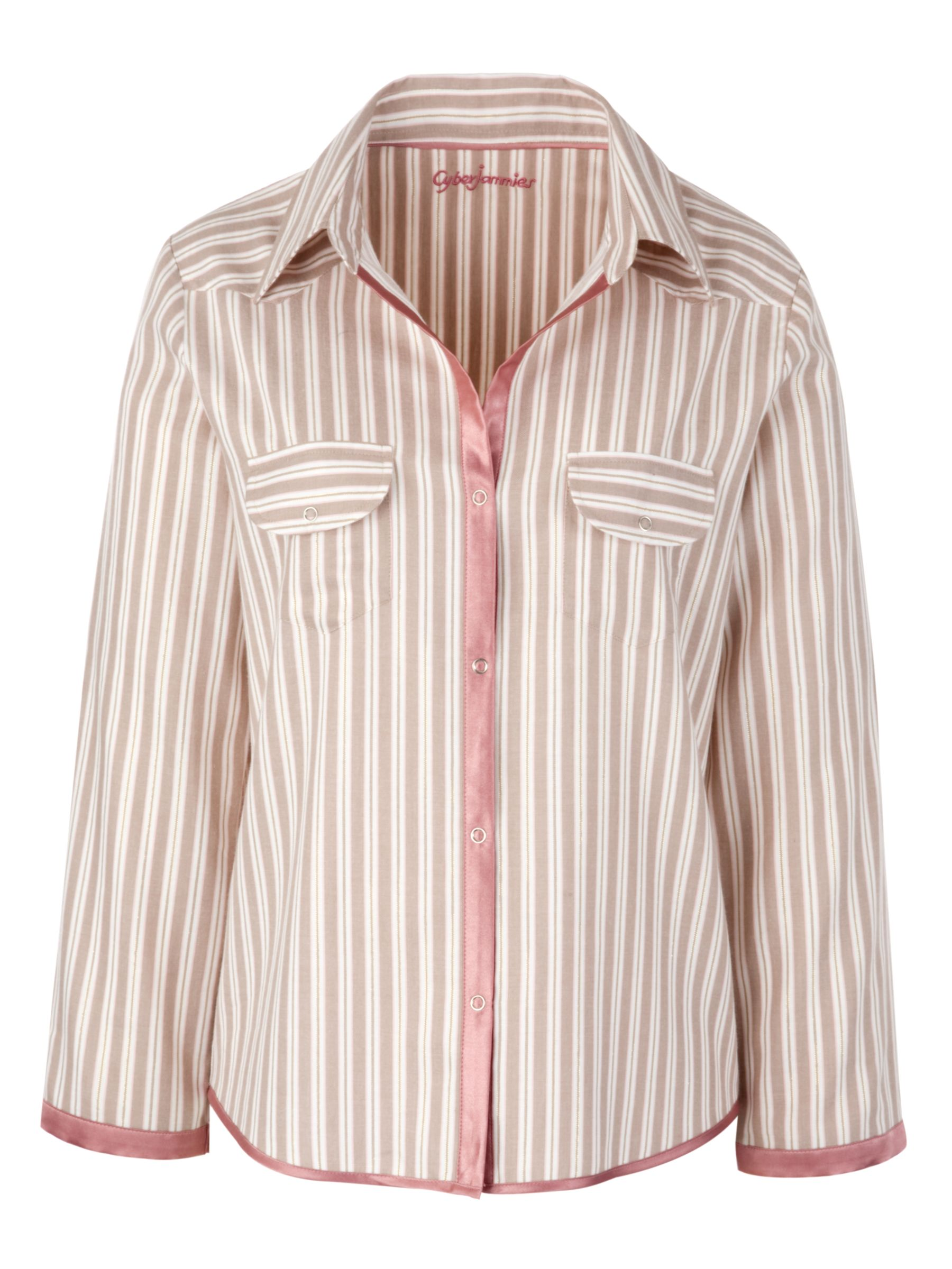 Cyberjammies Dune Stripe Pyjama Top, Rose