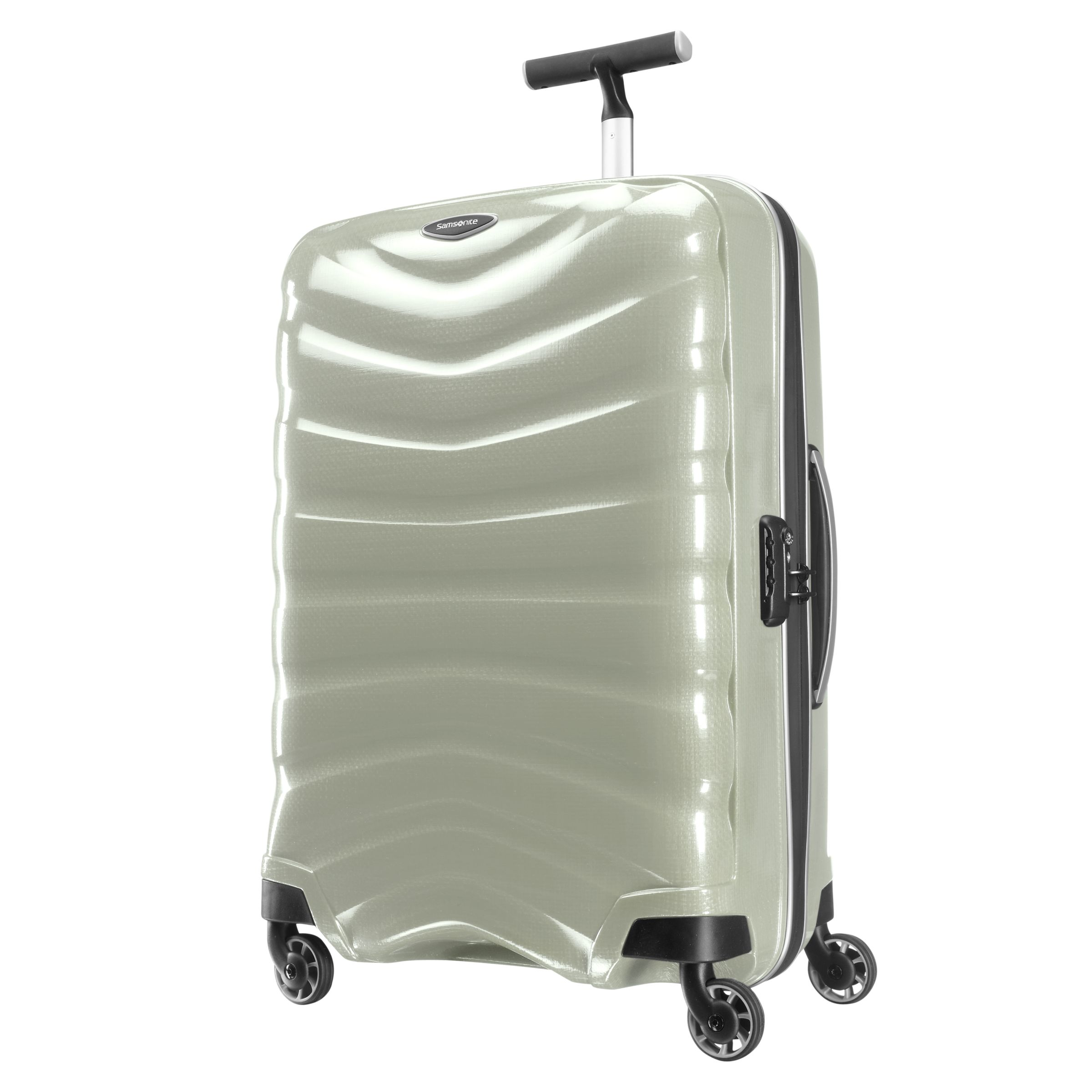 Samsonite Firelite 4-Wheel Spinner Suitcase, White