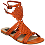 Bertie Jorge Leather Gladiator Style Flat Sandals