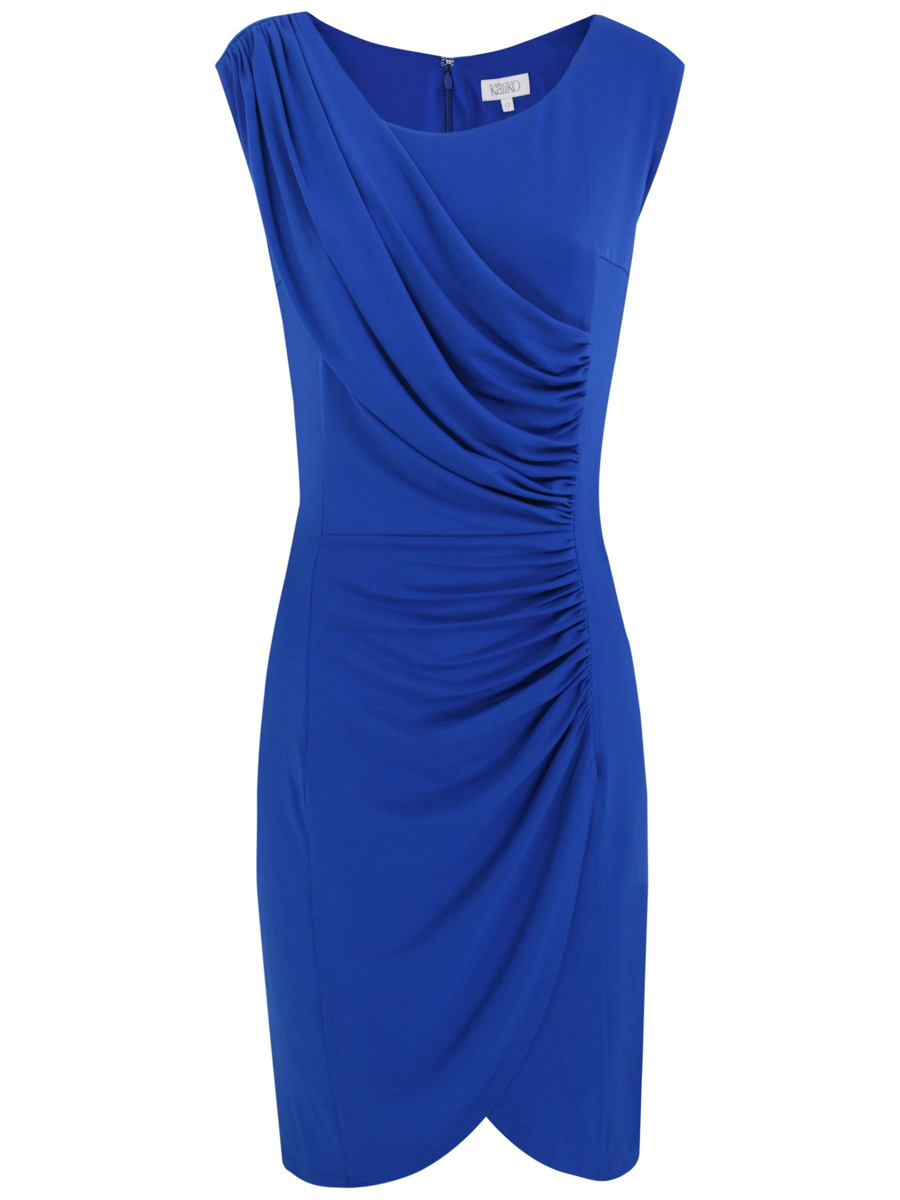 Kaliko Ruched Panel Dress, Bright Blue