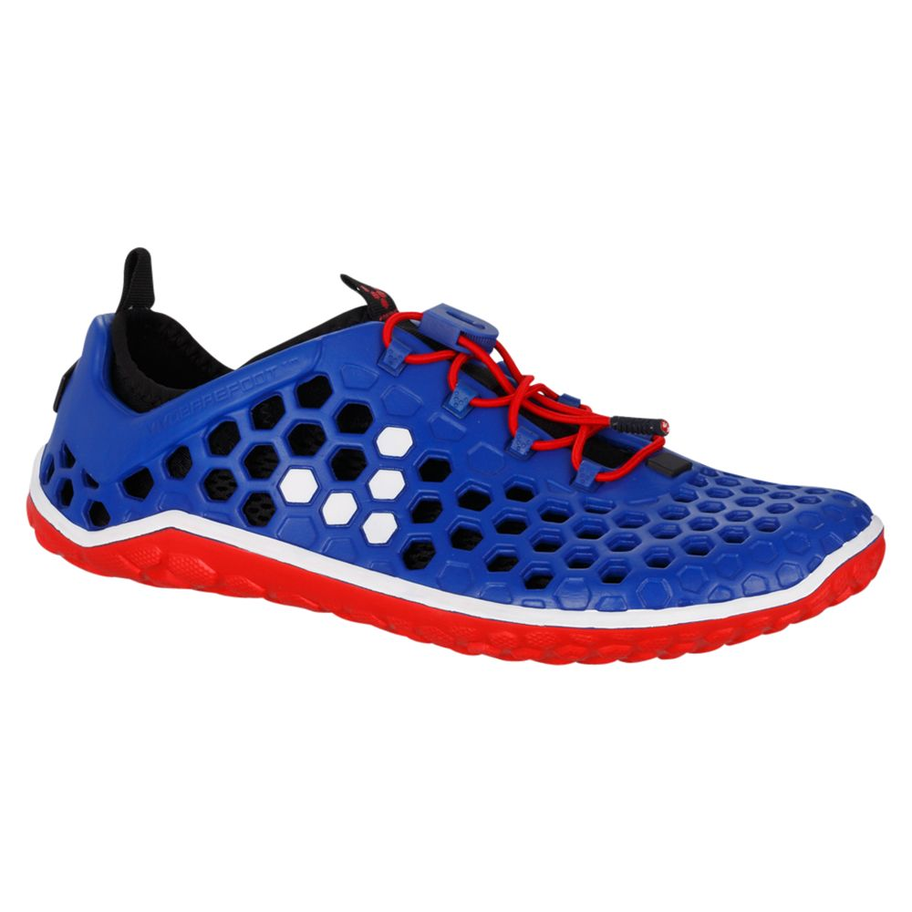VivoBarefoot Ultra Men's Running Shoes, Blue/Red