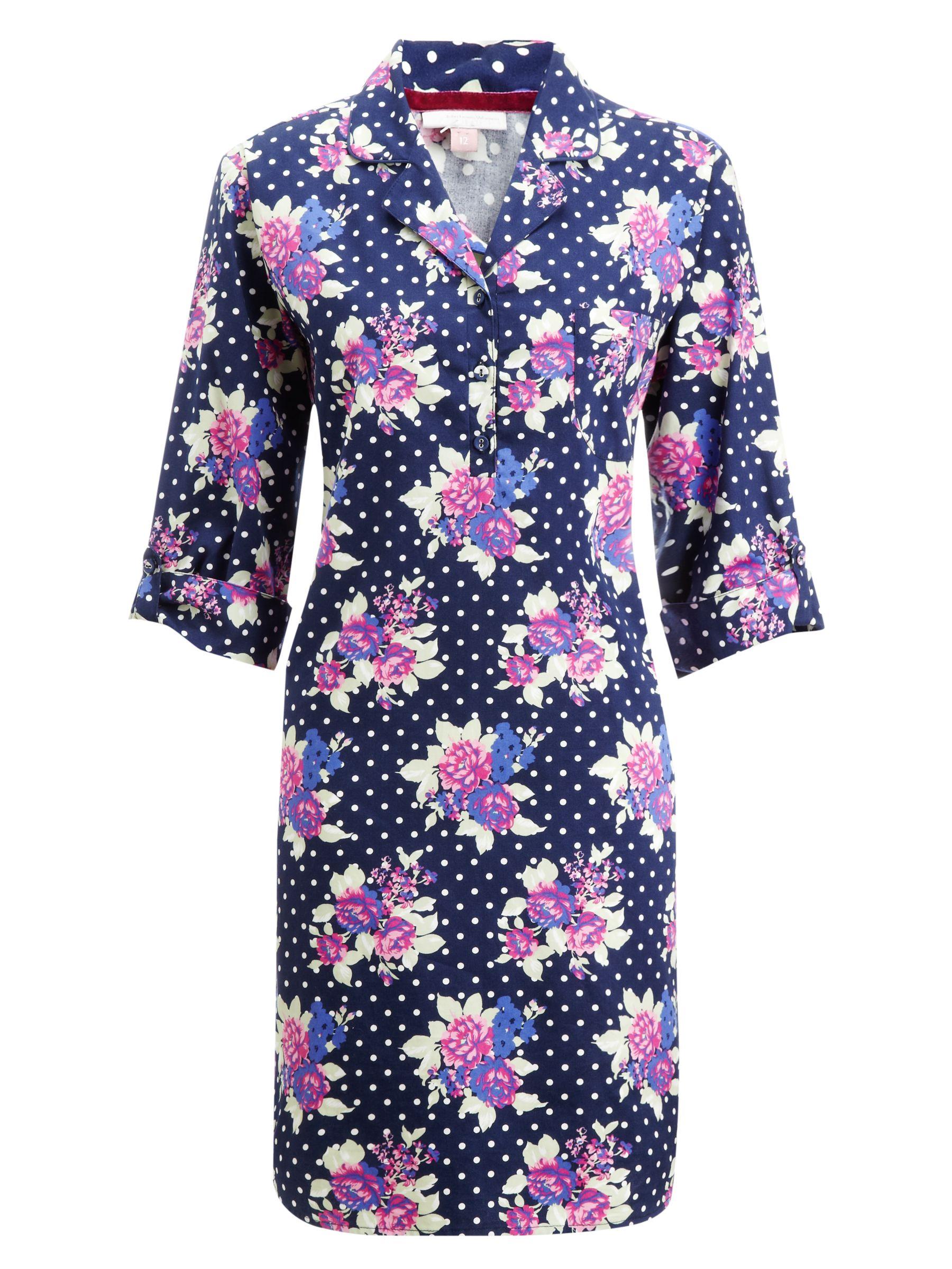 John Lewis Georgie Floral Nightshirt, Multi