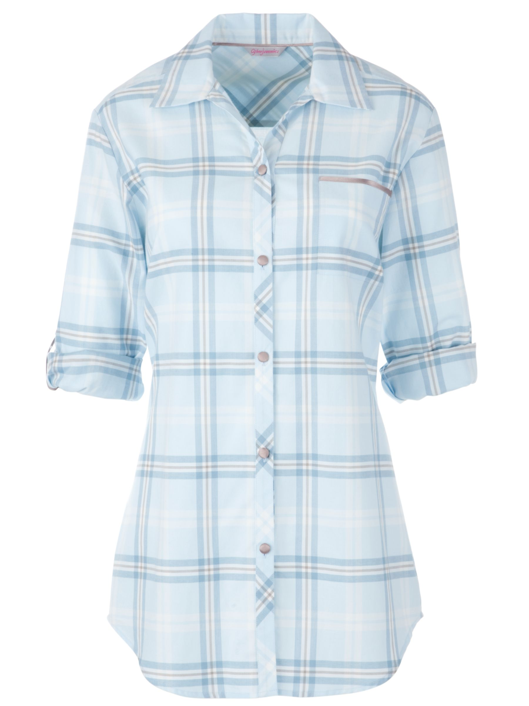 Cyberjammies Angel Mist Check Nightshirt, Blue