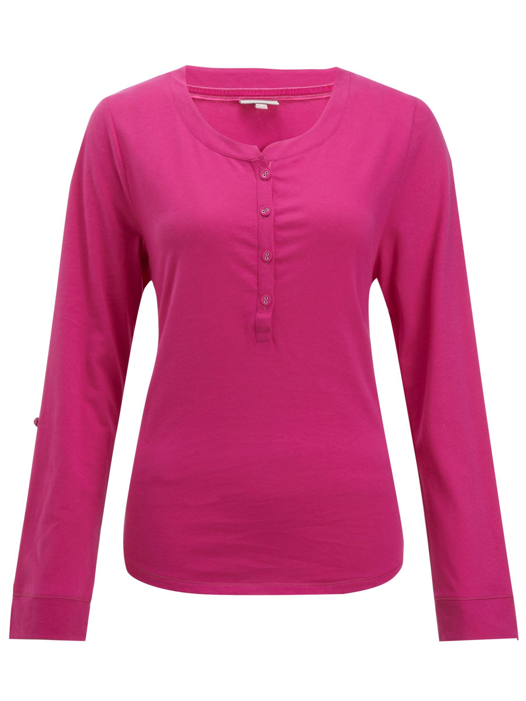 John Lewis Georgie Pyjama Top, Pink