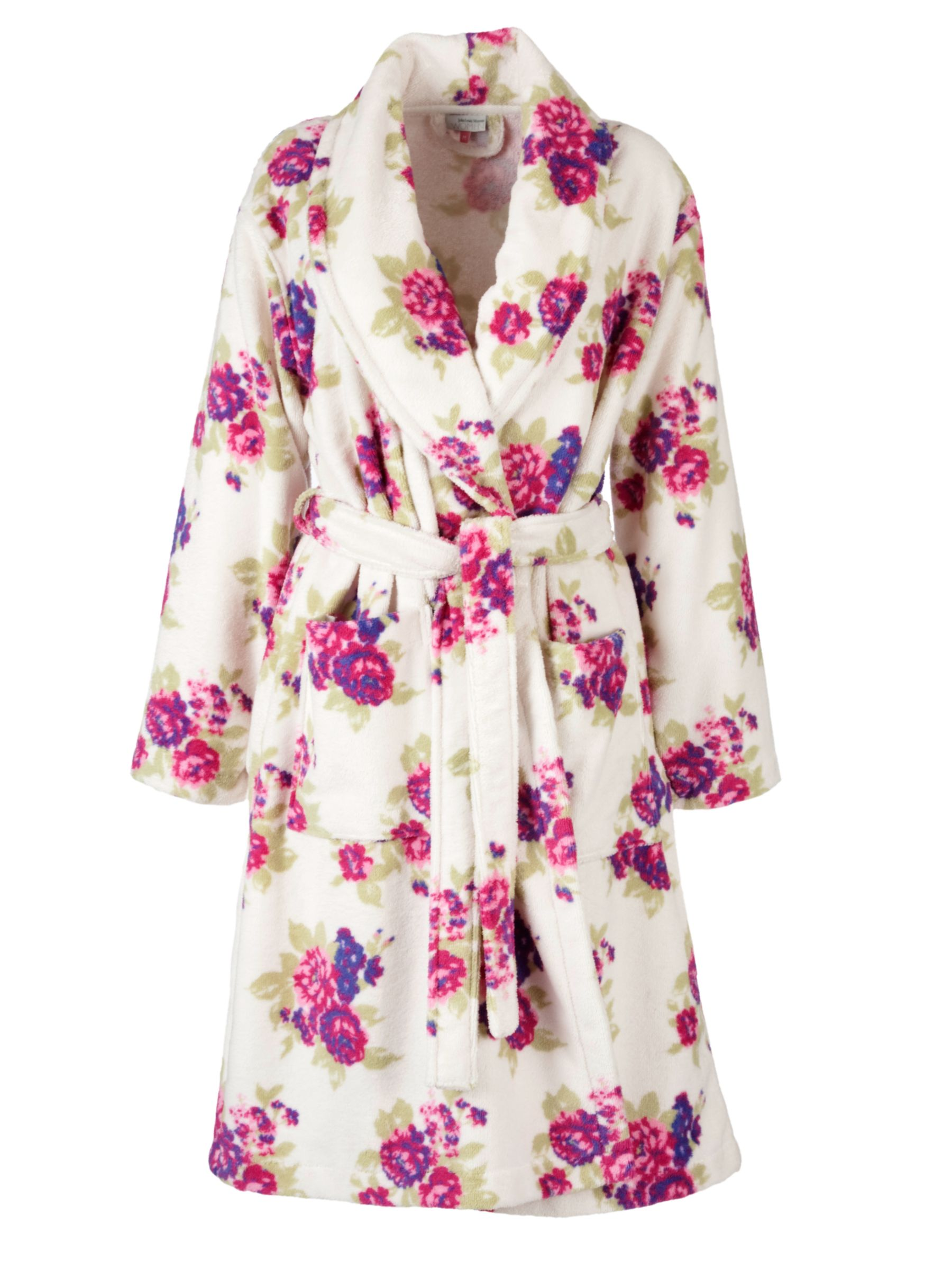 John Lewis Velour Robe, Floral