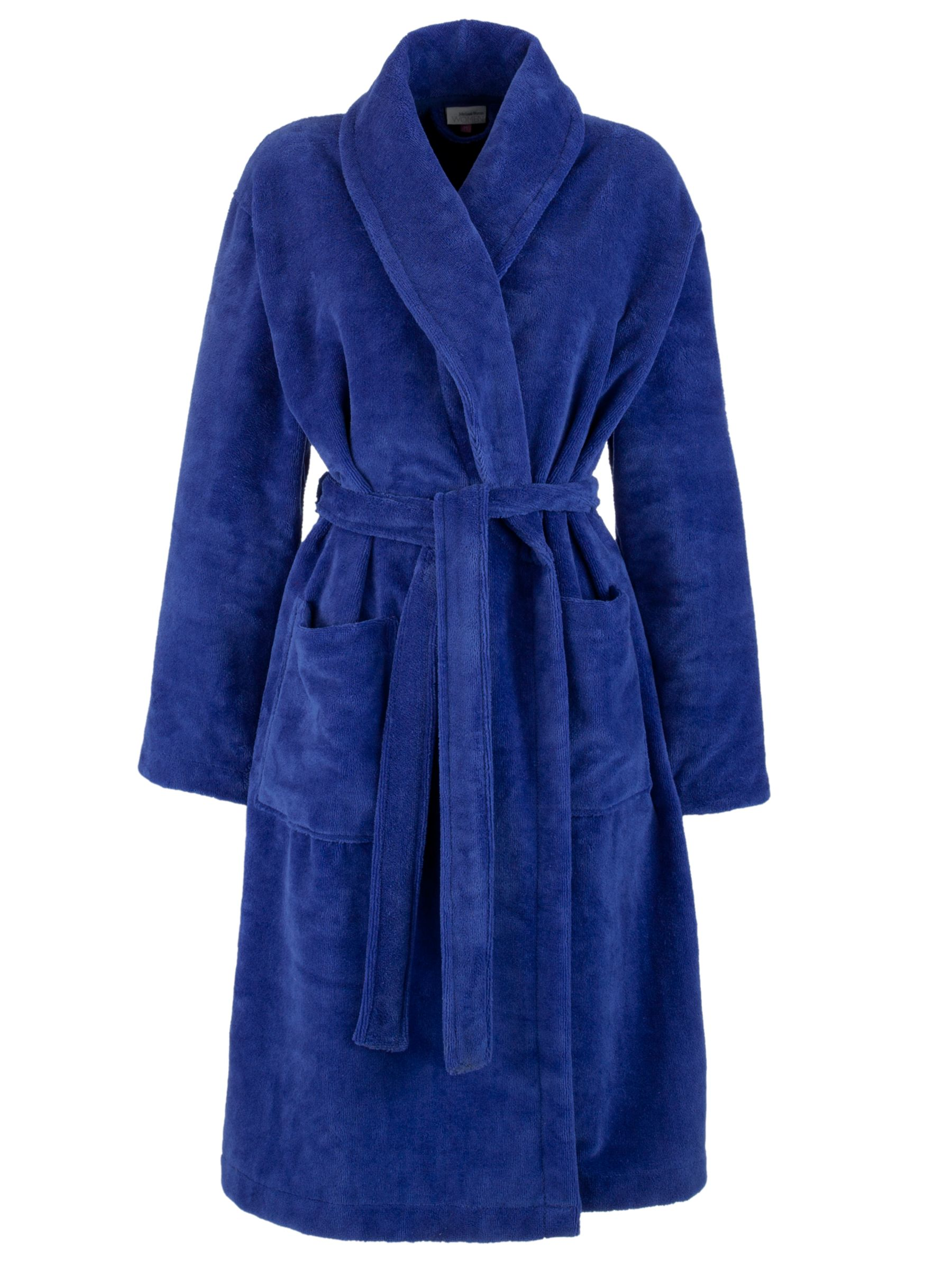 John Lewis Velour Robe, Purple