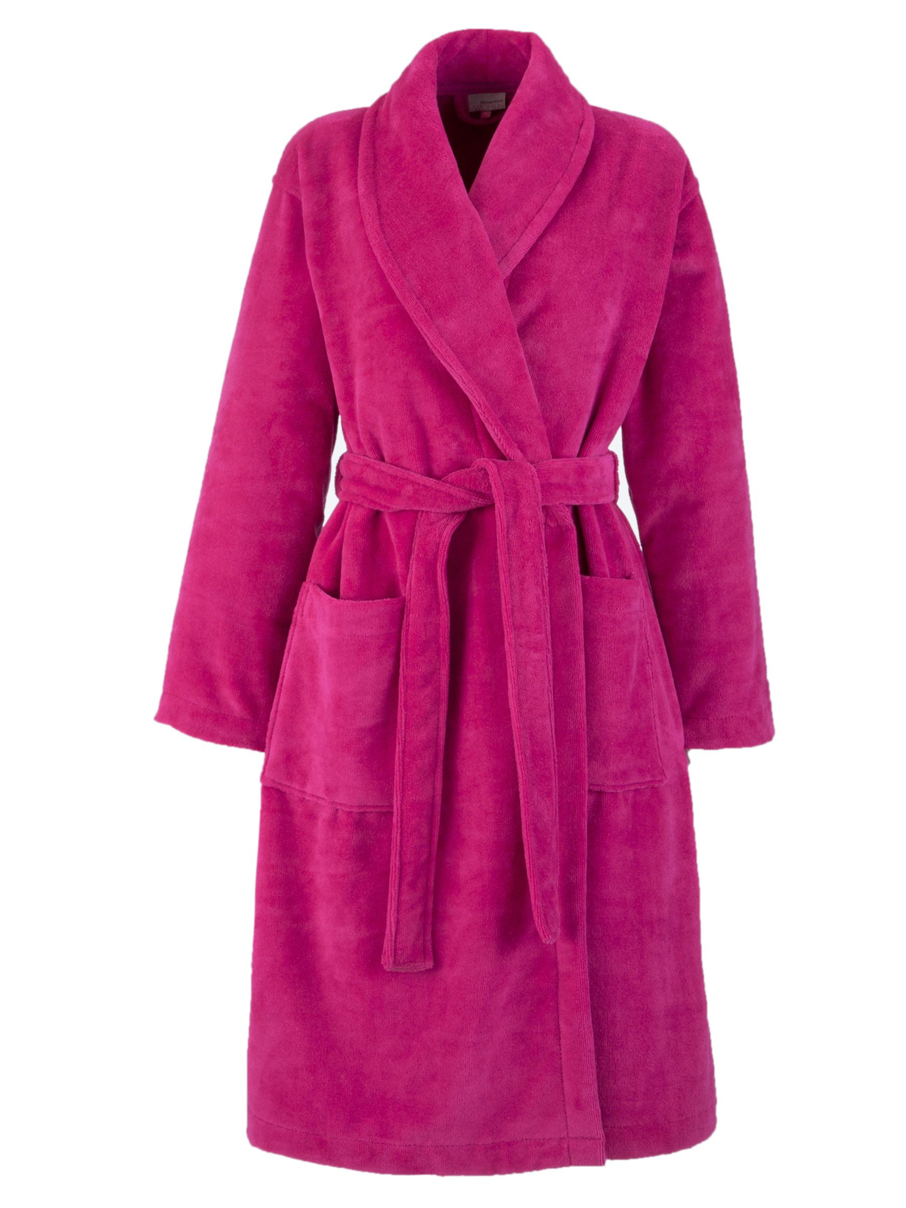 John Lewis Velour Robe, Raspberry