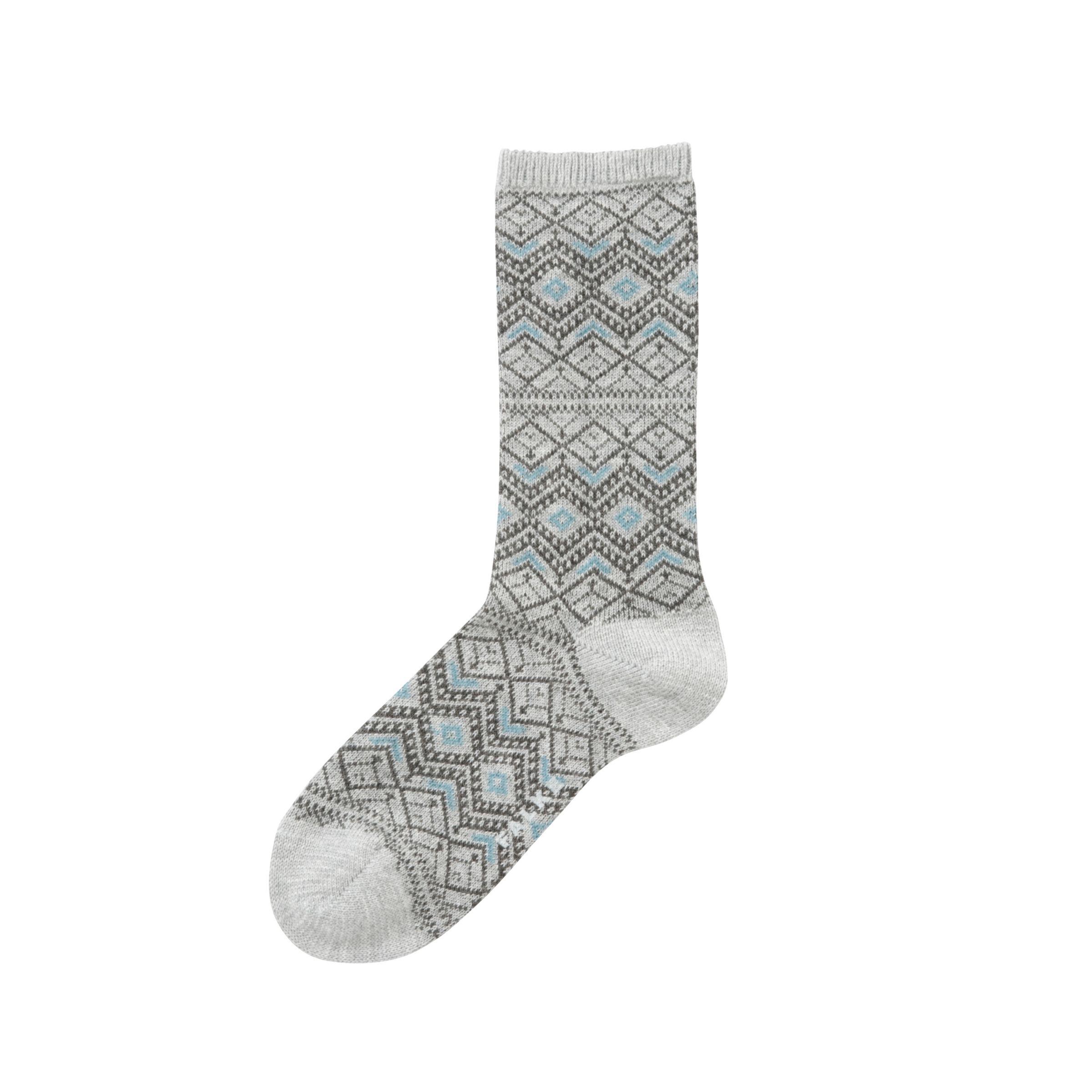 Falke Fair Isle Ankle Socks, Grey