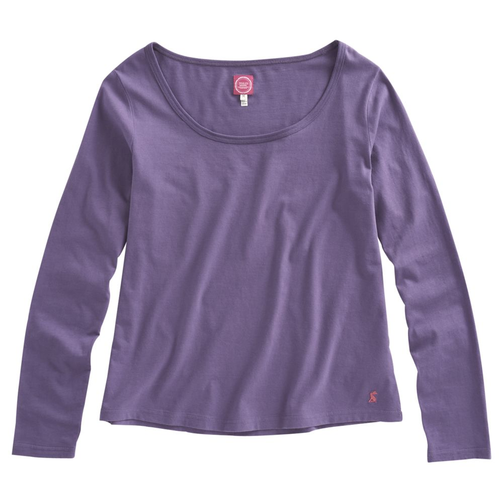 Joules Gail Pyjama Top, Purple