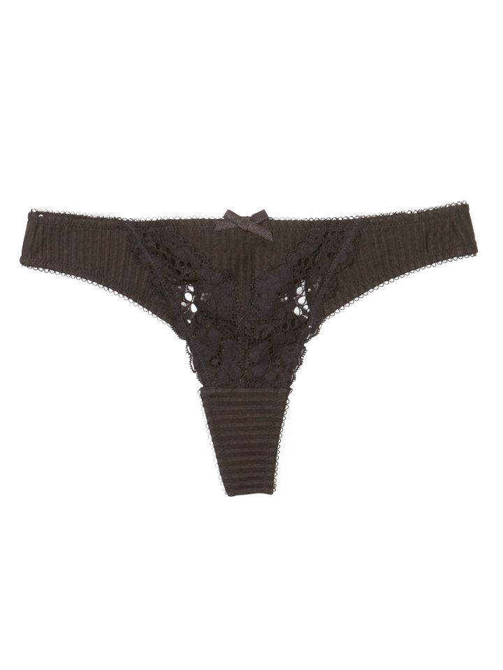 Elle Macpherson Intimates Big Wave Break Thong, Black