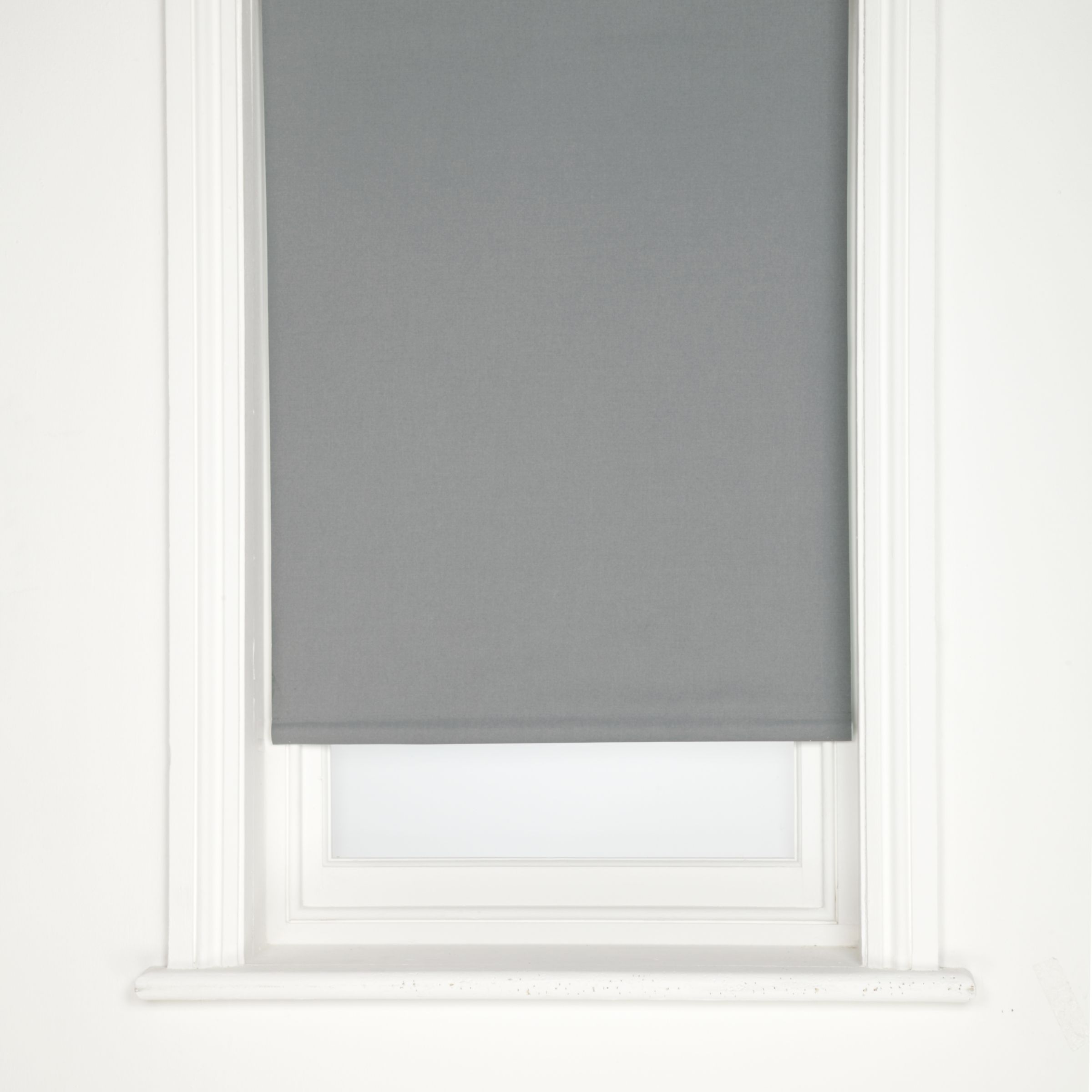 John Lewis Blackout Roller Blinds, Steel