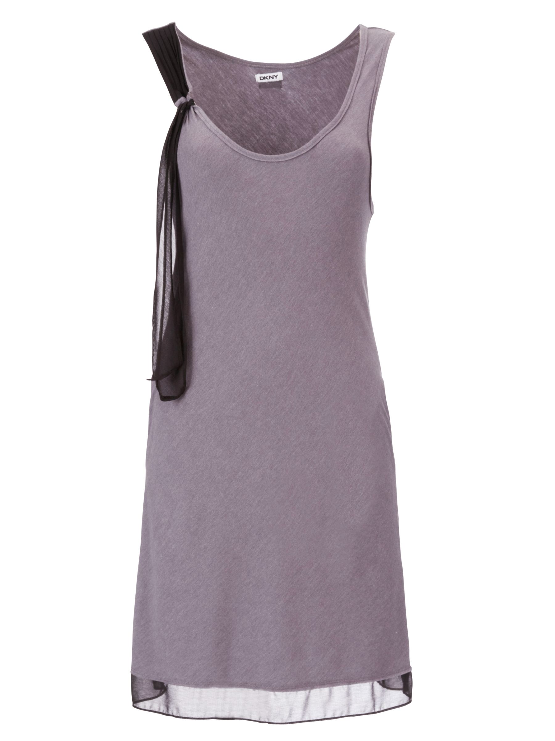 DKNY Crosby Street Built Up Chemise, Grey/Black