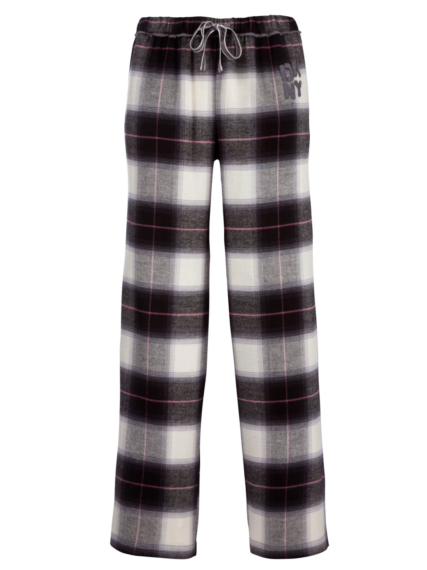 DKNY Pattern Play Check Pyjama Trousers, Grey