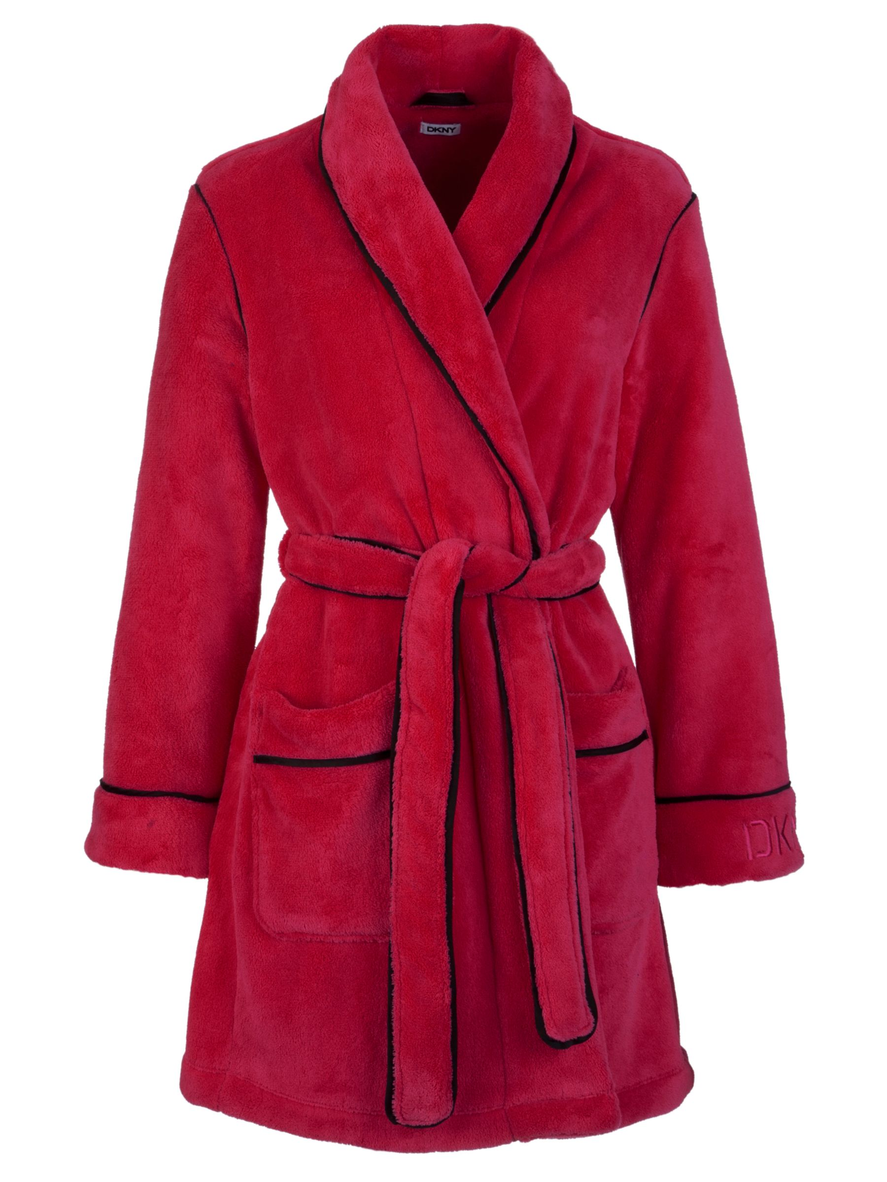 DKNY Fleece Robe, Pink