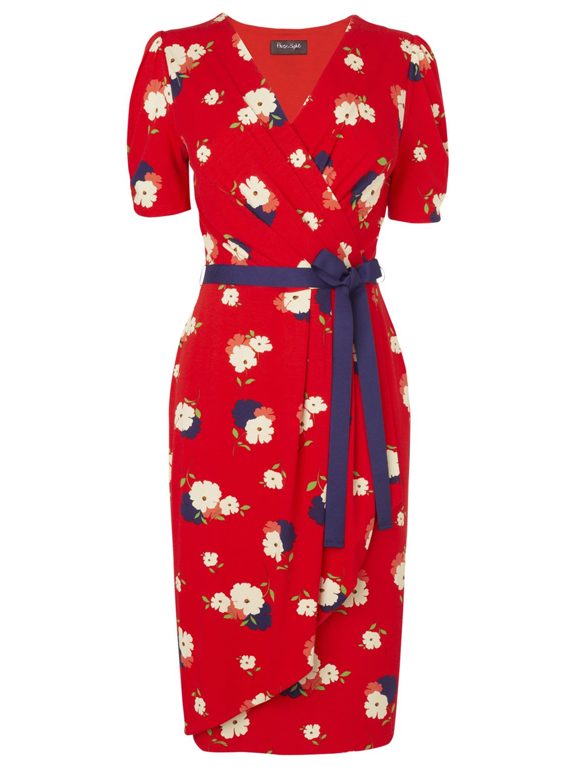 Phase Eight Posy Print Dress, Chilli