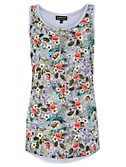 Warehouse Floral Zip Front Vest, Multi