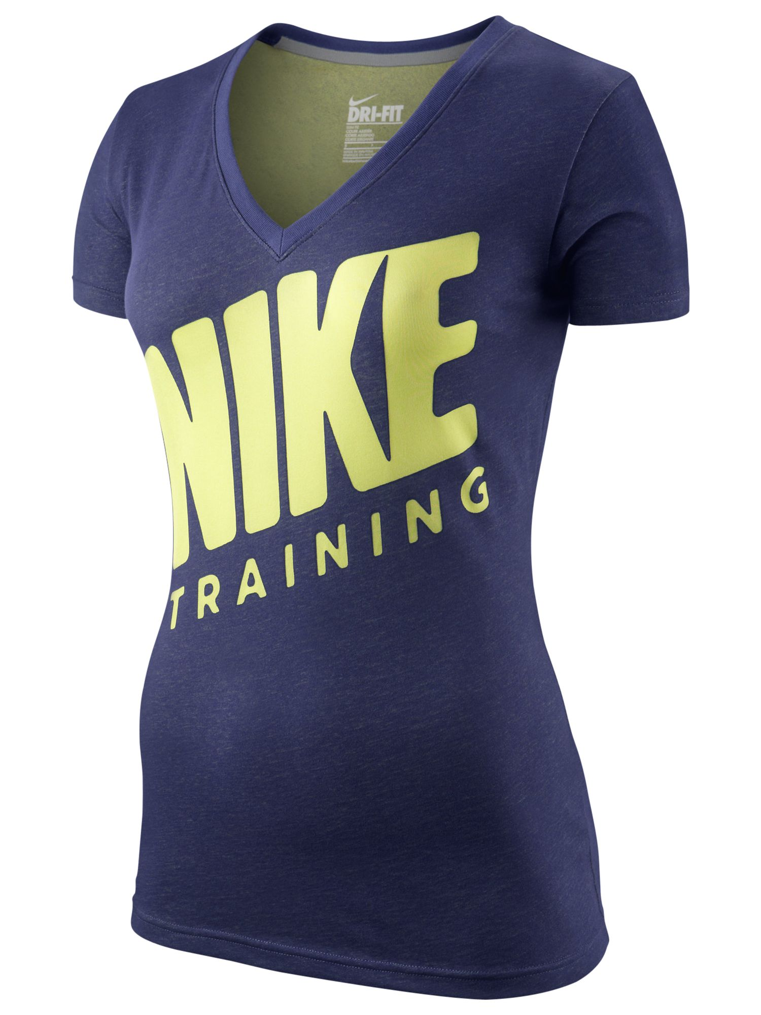 Nike Slim Training V-Neck Top, Night Blue