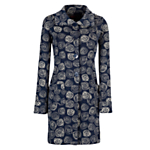 Avoca Anthology Rosa Knitted Coat, Marine