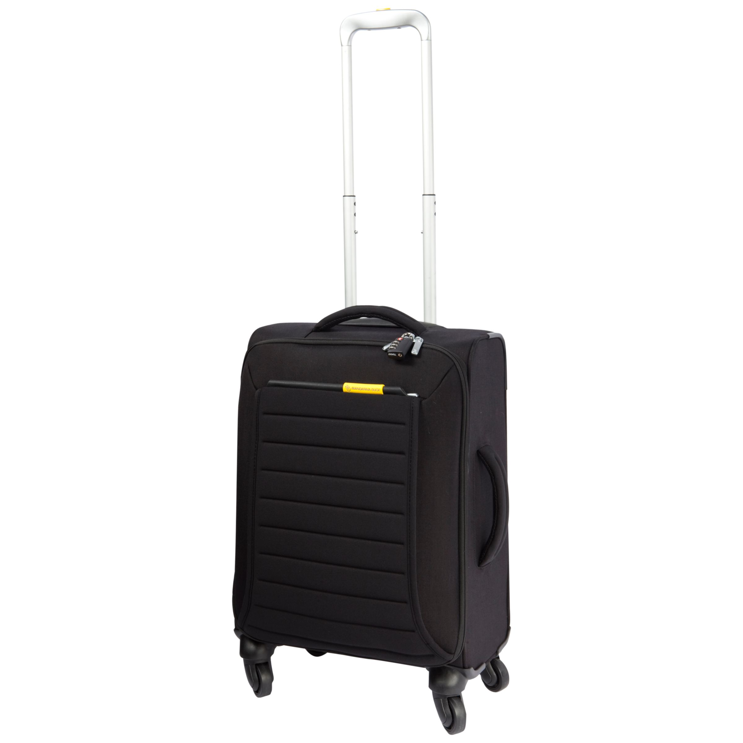 Mandarina Duck Feather 4-Wheel Spinner Suitcase, Black