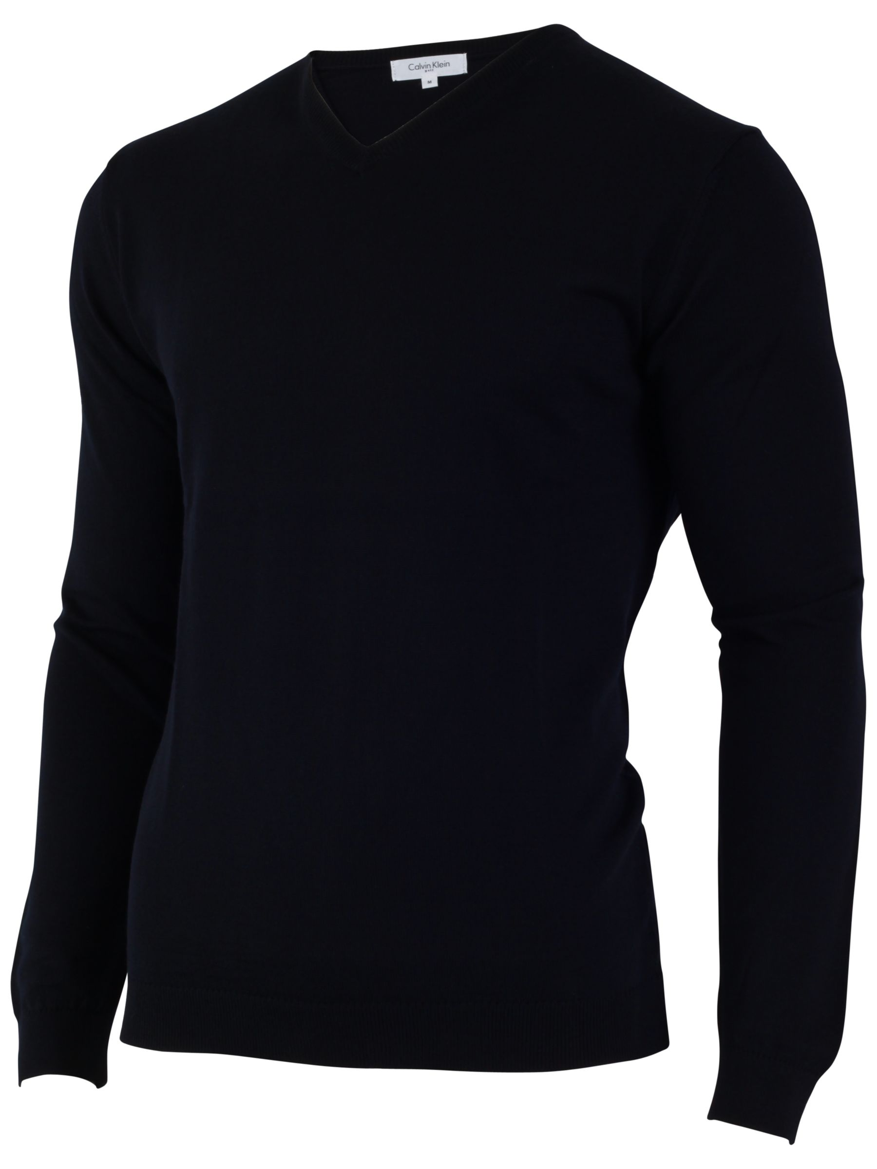 Calvin Klein Golf Merino Mix V-Neck Jumper, Navy