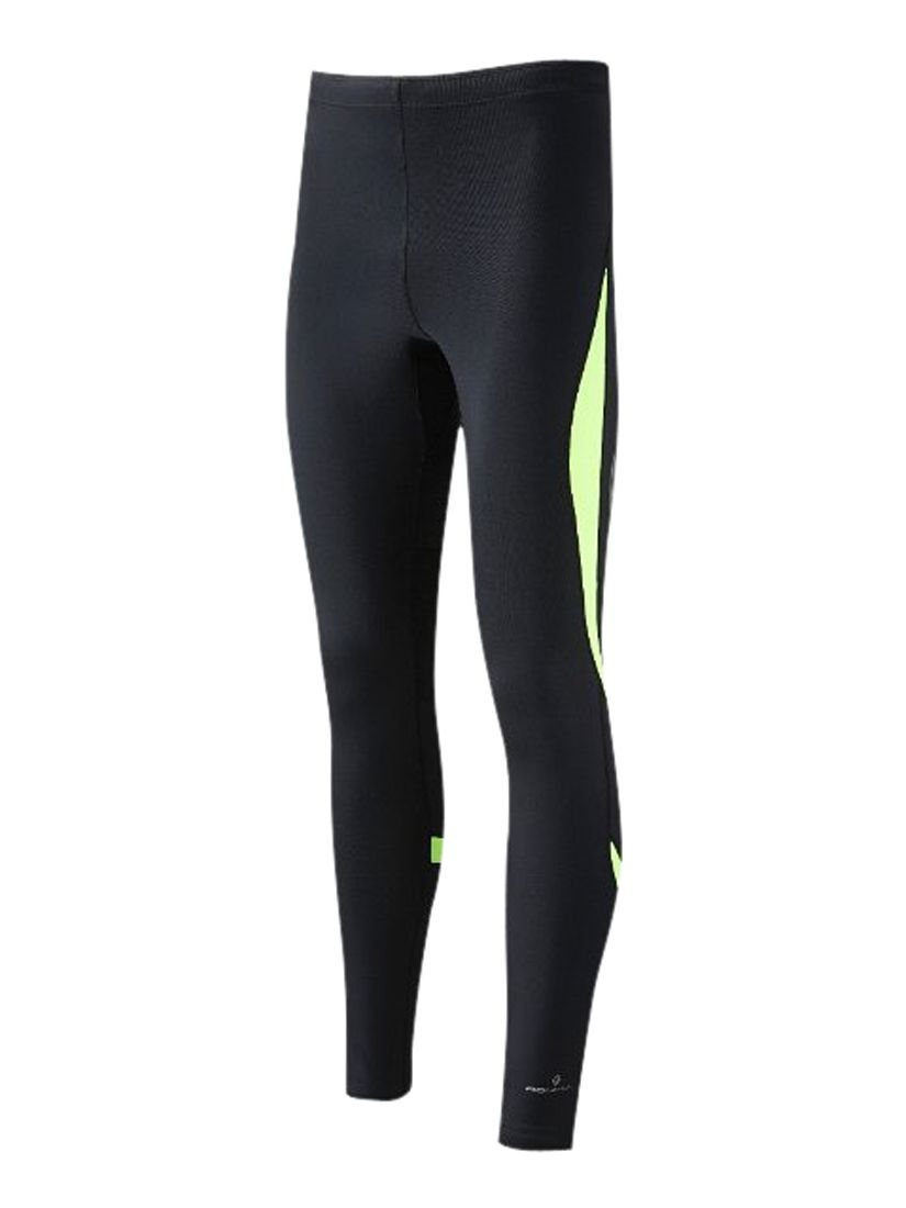Ronhill Vizion Contour Tights, Black/Fluo Yellow