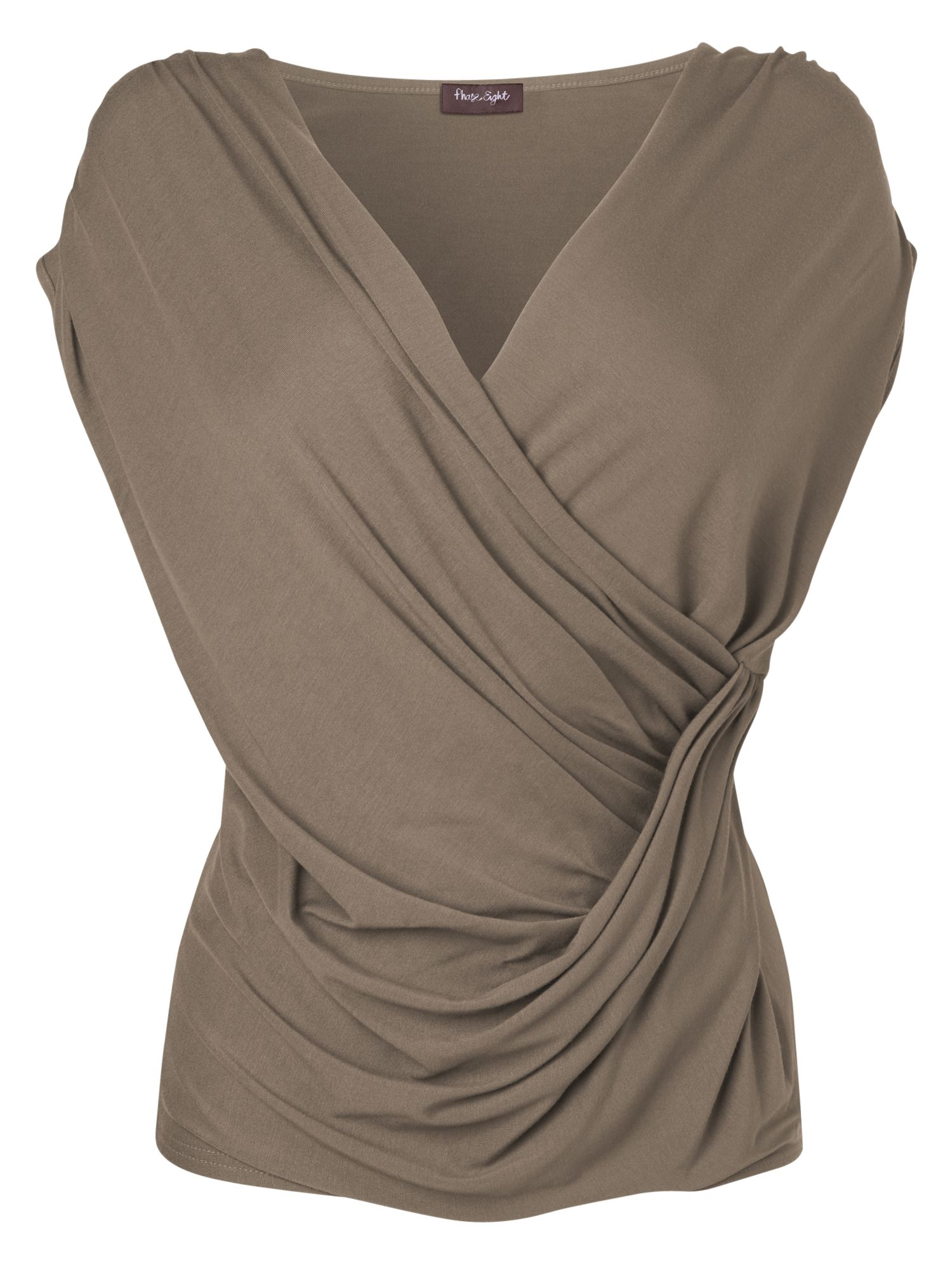 Phase Eight Bia Draped Wrap Top, Praline