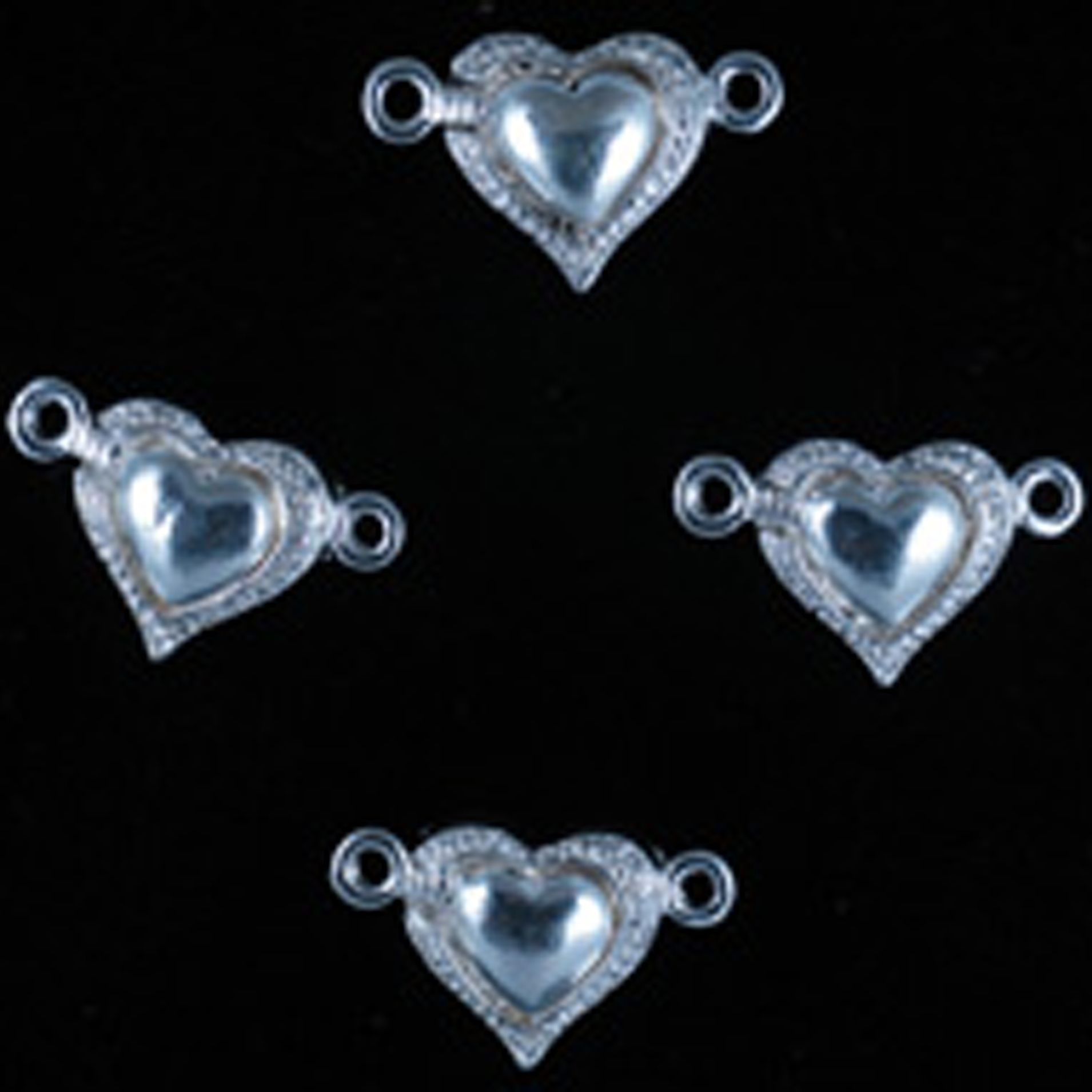 Jesse James Magnetic Clasp, Heart, Silver