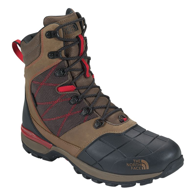 The North Face Snowsquall Tall Boots, Utility Brown/Fiery Red