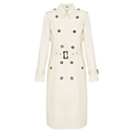 Four Seasons DB Trench Coat, Natural