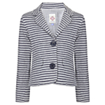 John Lewis Girl Striped Blazer, Grey/Navy £20-22