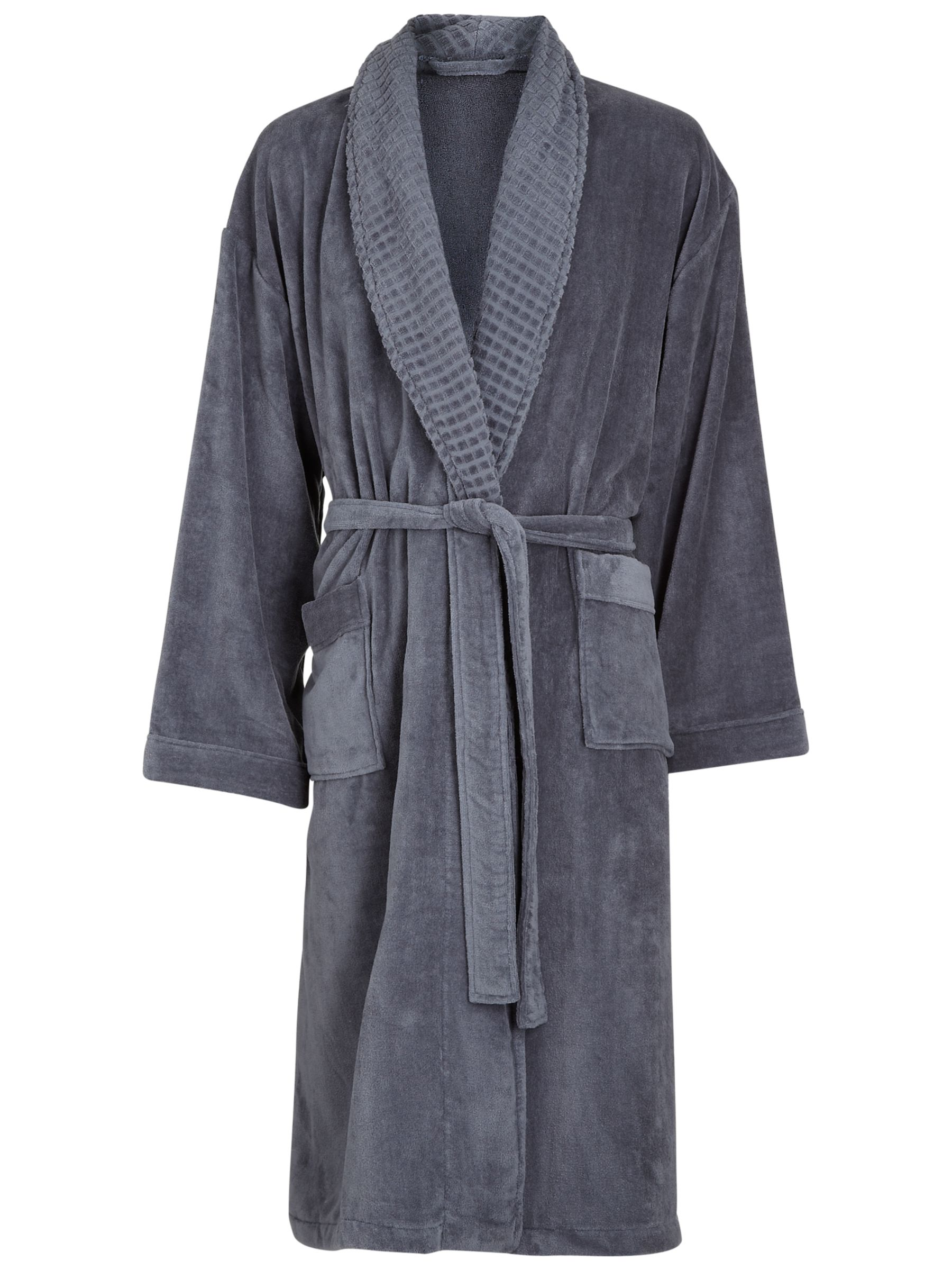 John Lewis Spa Unisex Bathrobe, Midnight