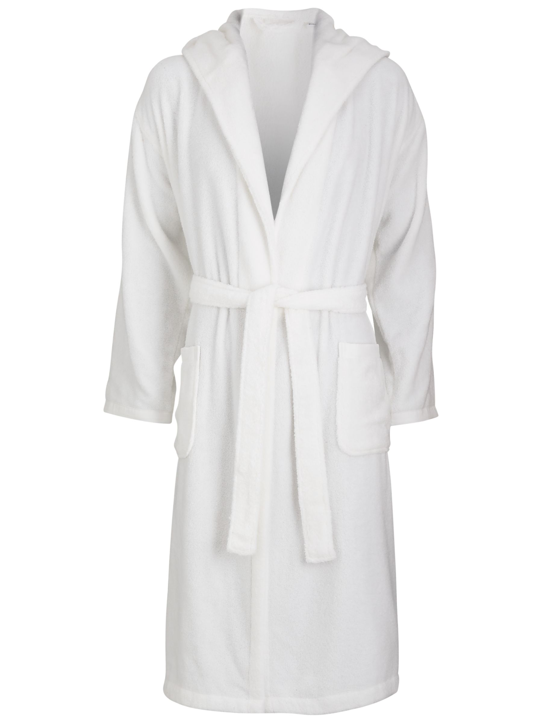 John Lewis Winter Warmth Unisex Bathrobe, White