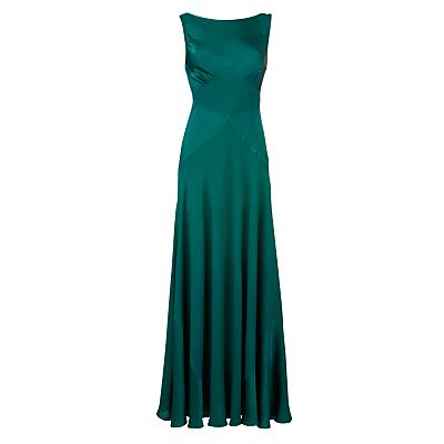 smaragdgrøn kjole