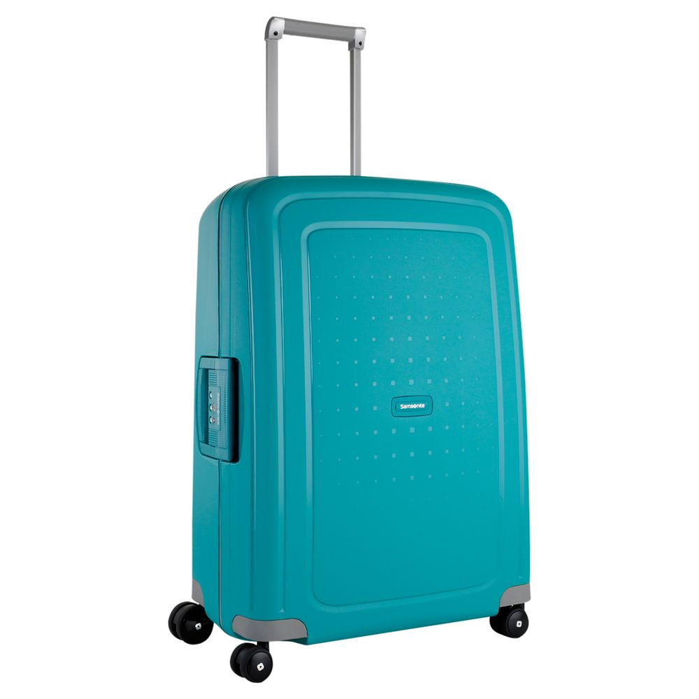 Samsonite S'Cure 4-Wheel Spinner Suitcase, Aqua