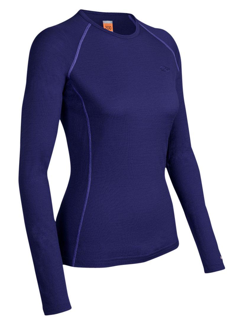 Icebreaker Women's Bodyfit 200 Oasis Crewe Top, Horizon
