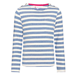 John Lewis Girl Striped Boat Neck Top , Blue £10-12