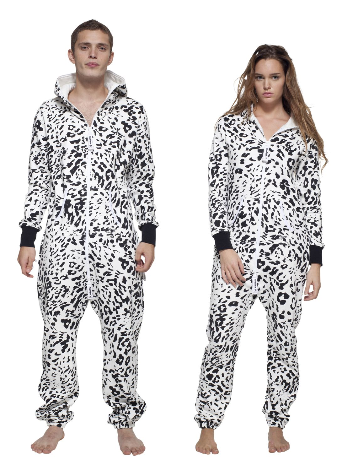 OnePiece Snow Leopard Unisex Original Lightweight Cotton Onesie, White