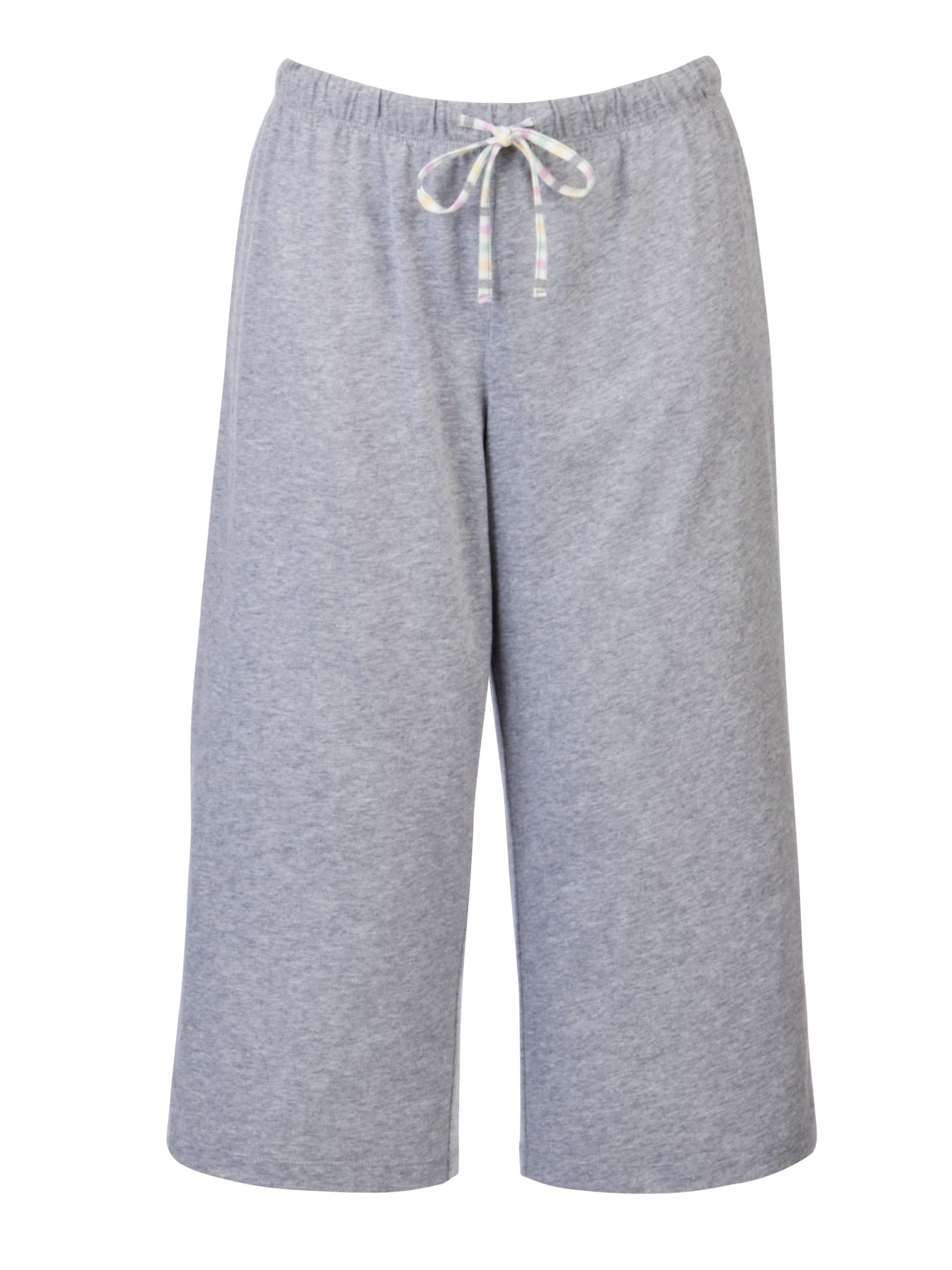 John Lewis Deauville Cropped Pyjama Bottoms, Grey