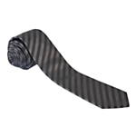 West End by Simon Carter Stripe Tie, Grey