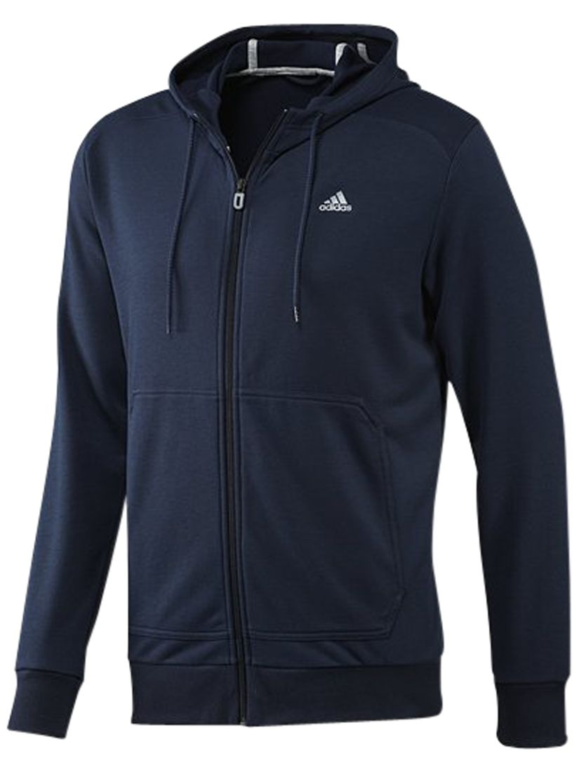 Adidas Prime Zip Through Hoodie, Collegiate Navy/Tech Grey