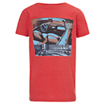 Worn & Torn Vintage Car Interior T-Shirt, Red £14