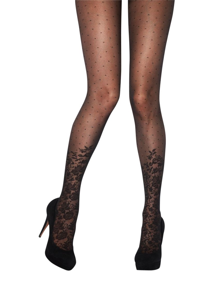 Jonathan Aston Hope Floral and Spot Tights, Black