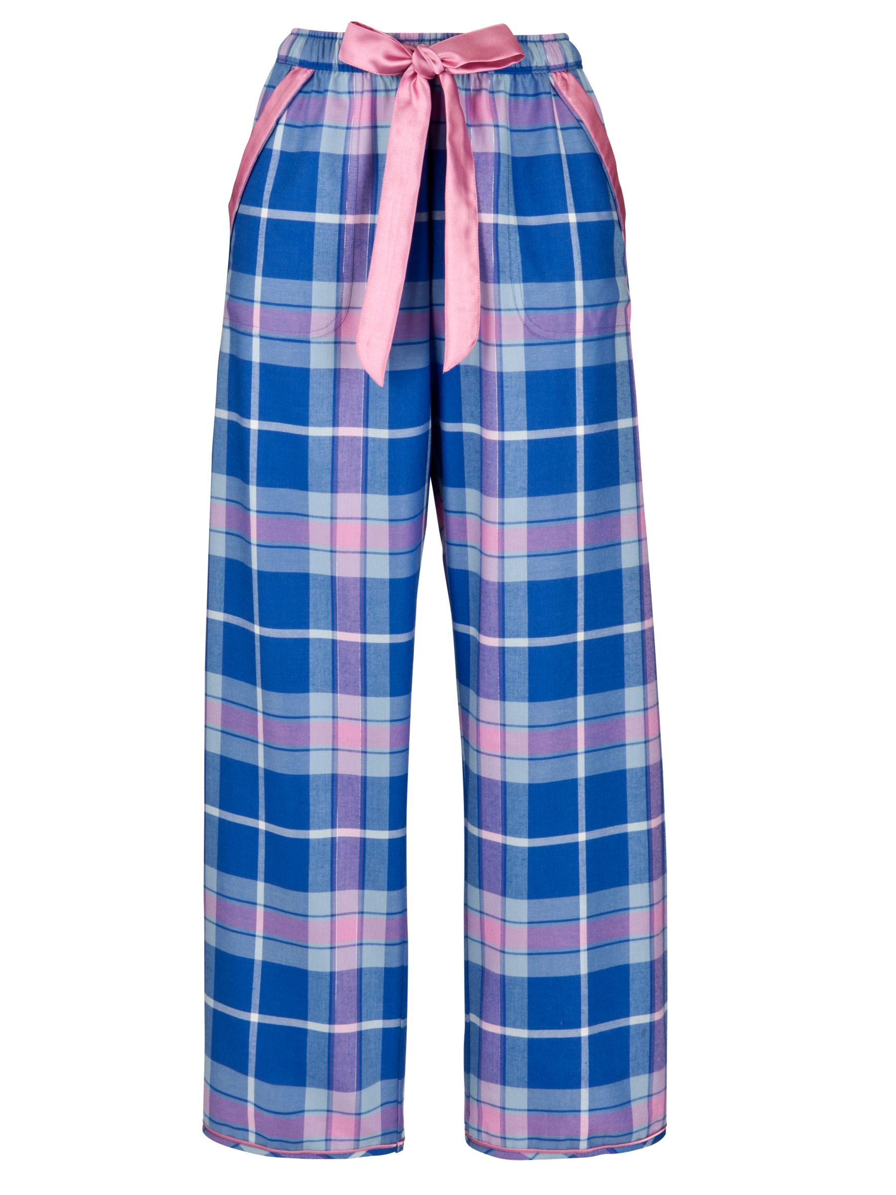 Cyberjammies Cornflower Checked Pyjama Bottoms, Blue