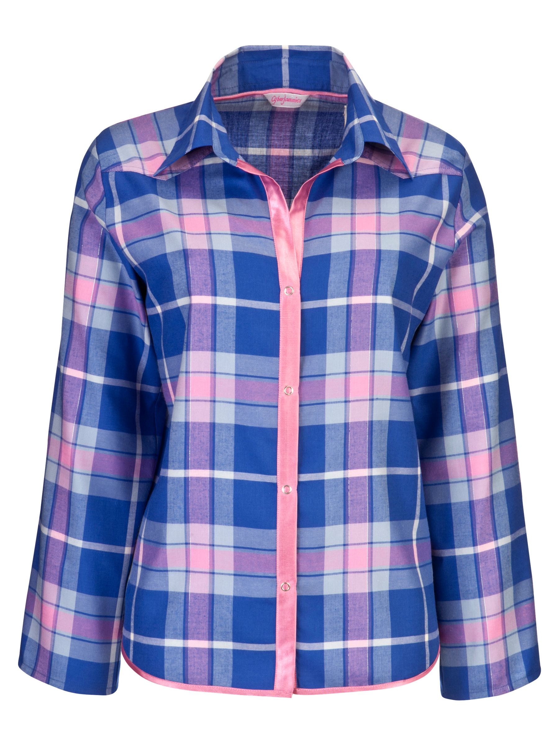 Cyberjammies Cornflower Checked Pyjama Top, Blue