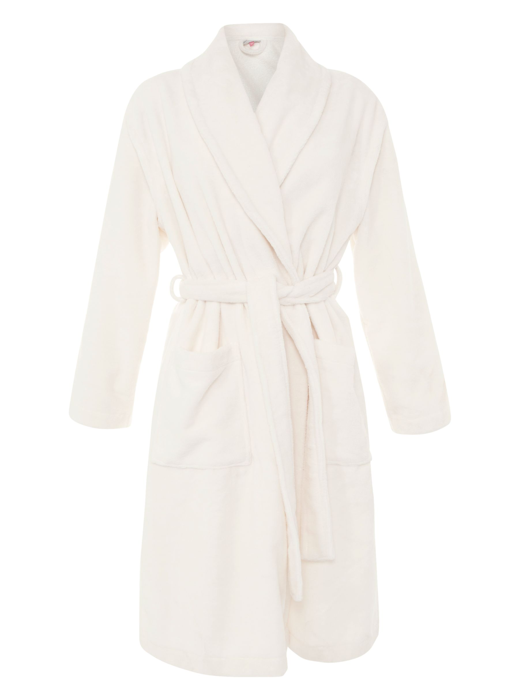 John Lewis Velour Robe, Cream