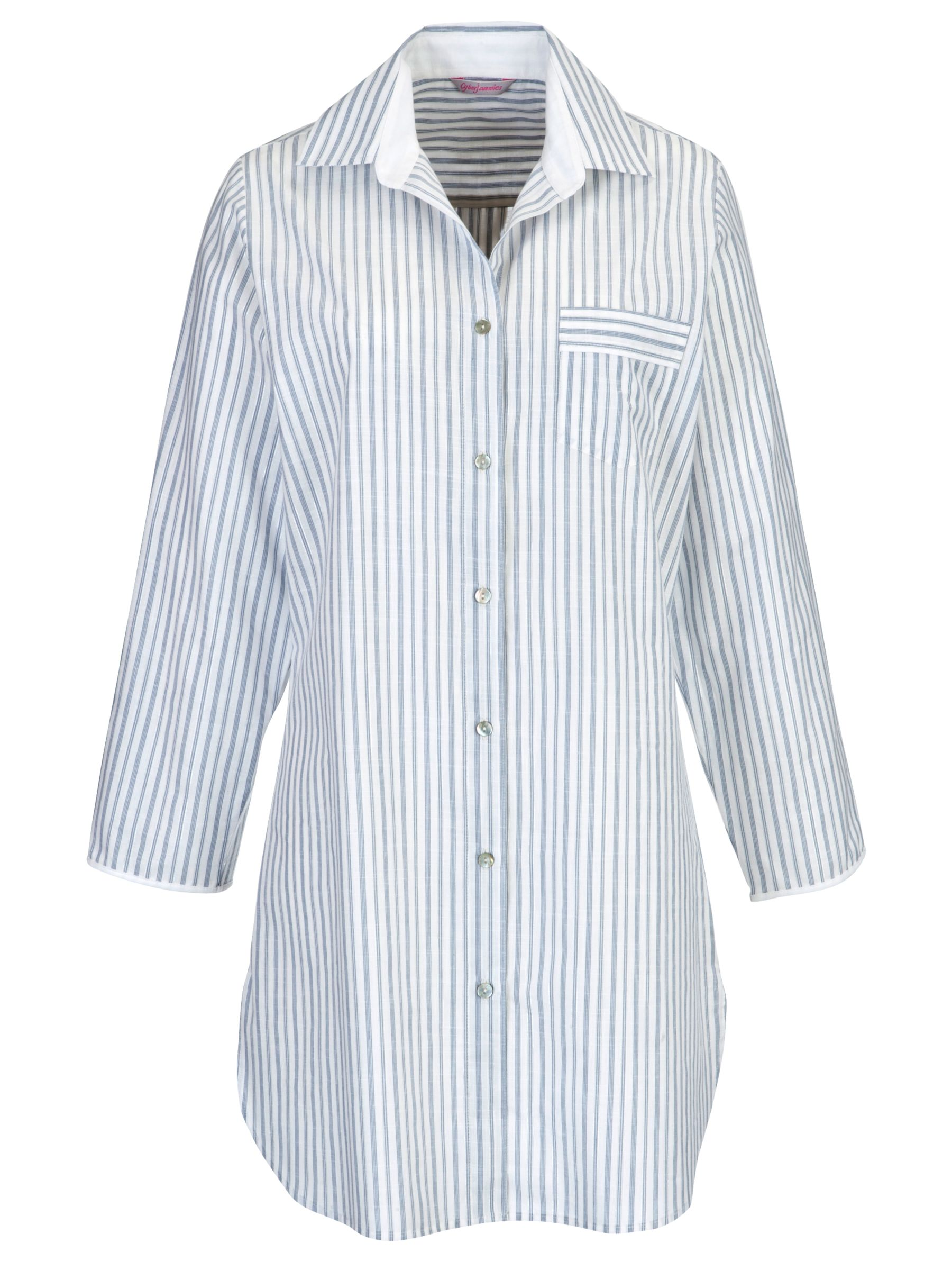 Cyberjammies China Blue Stripe Nightshirt, Blue/White