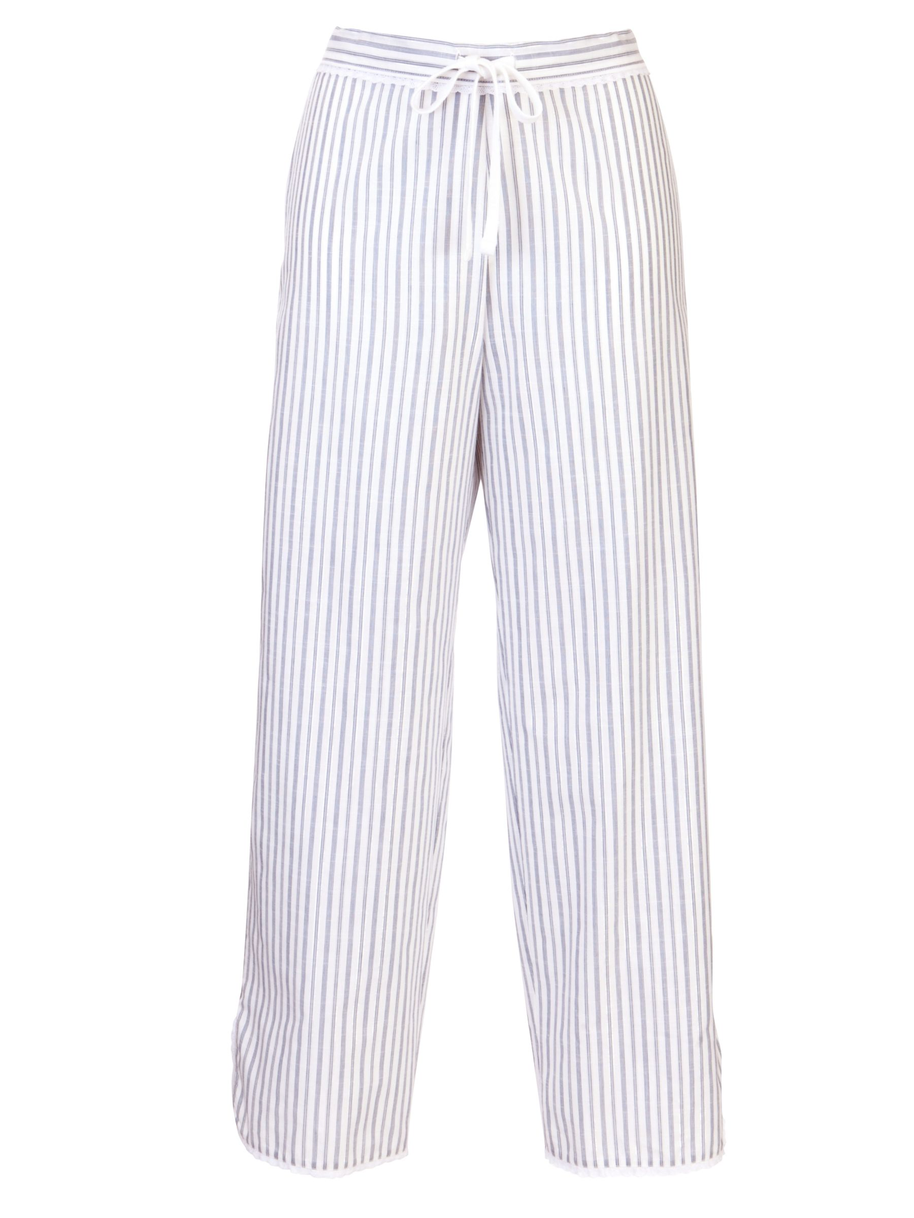 Cyberjammies China Blue Stripe Pyjama Bottoms, Blue/White